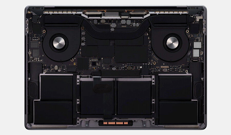 apple macbook pro 16 sistemul de racire