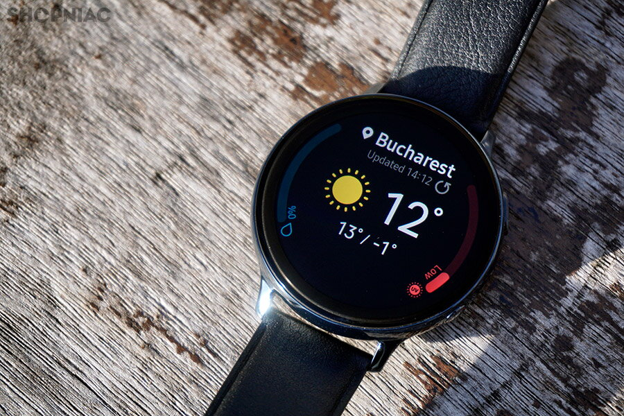 samsung galaxy watch active2 widget vreme