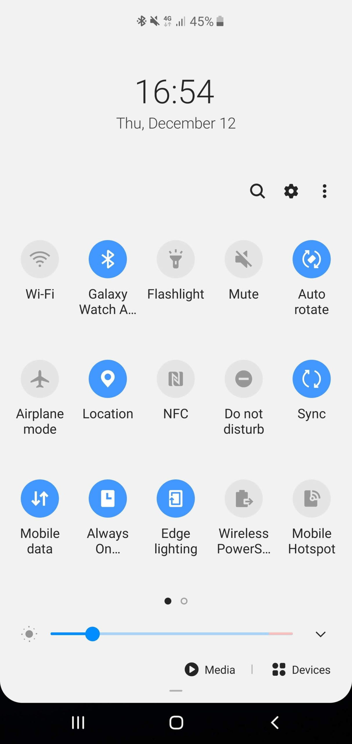 samsung one ui quick toggles
