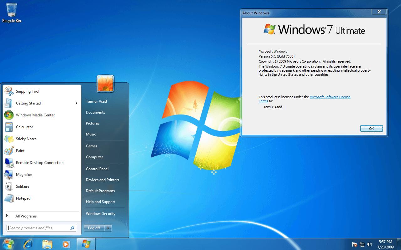 Microsoft windows 7 kennenlernen