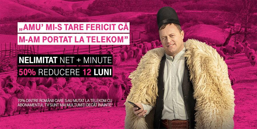 Oferta Telekom la mobil in 2020: abonamente fara contract, net 4G nelimitat, portare la jumatate de pret