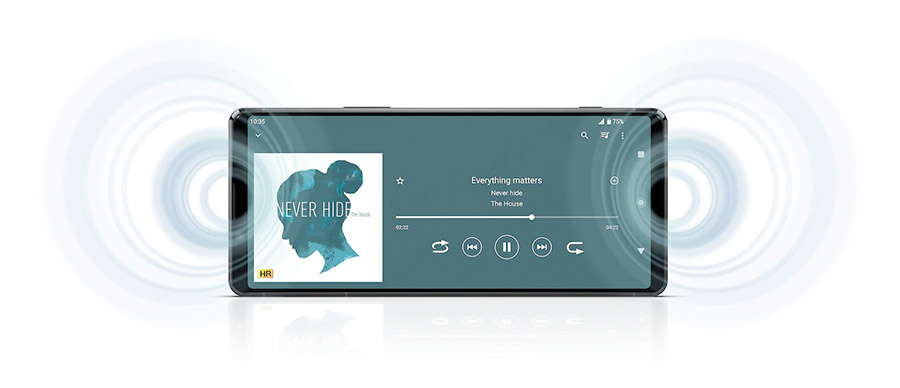 sony xperia 1 ii difuzoare stereo