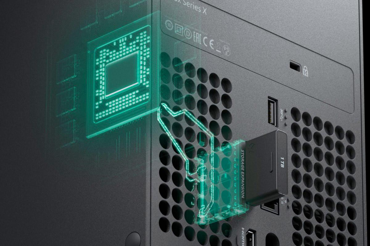 SSD extern CFExpress conectat direct la procesor