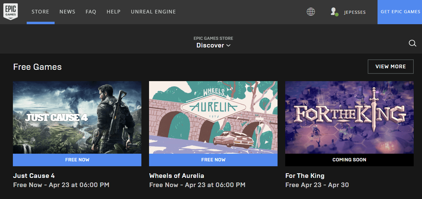 jocuri gratuite epic store