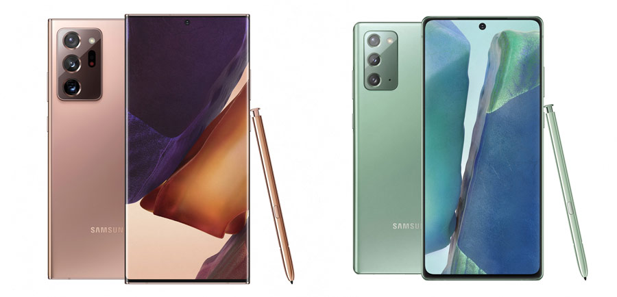 samsung galaxy note 20 si note 20 ultra