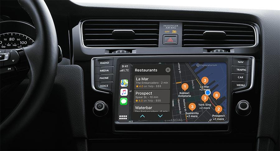 apple carplay navigatie auto