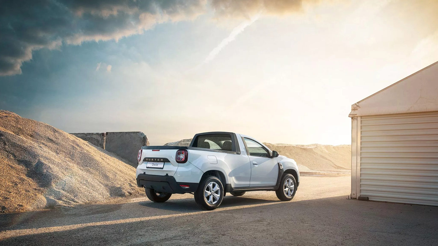 dacia duster pick-up perspectiva spate