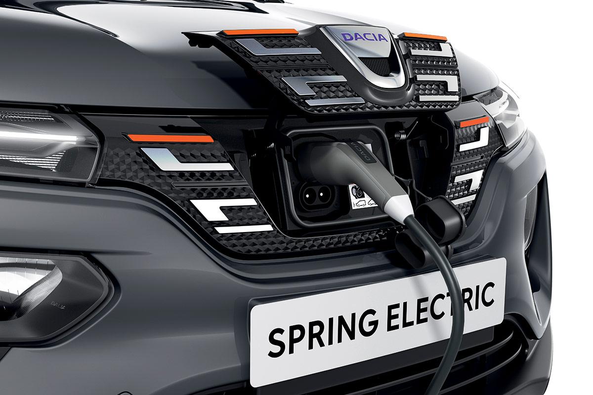 dacia spring electric priza incarcare