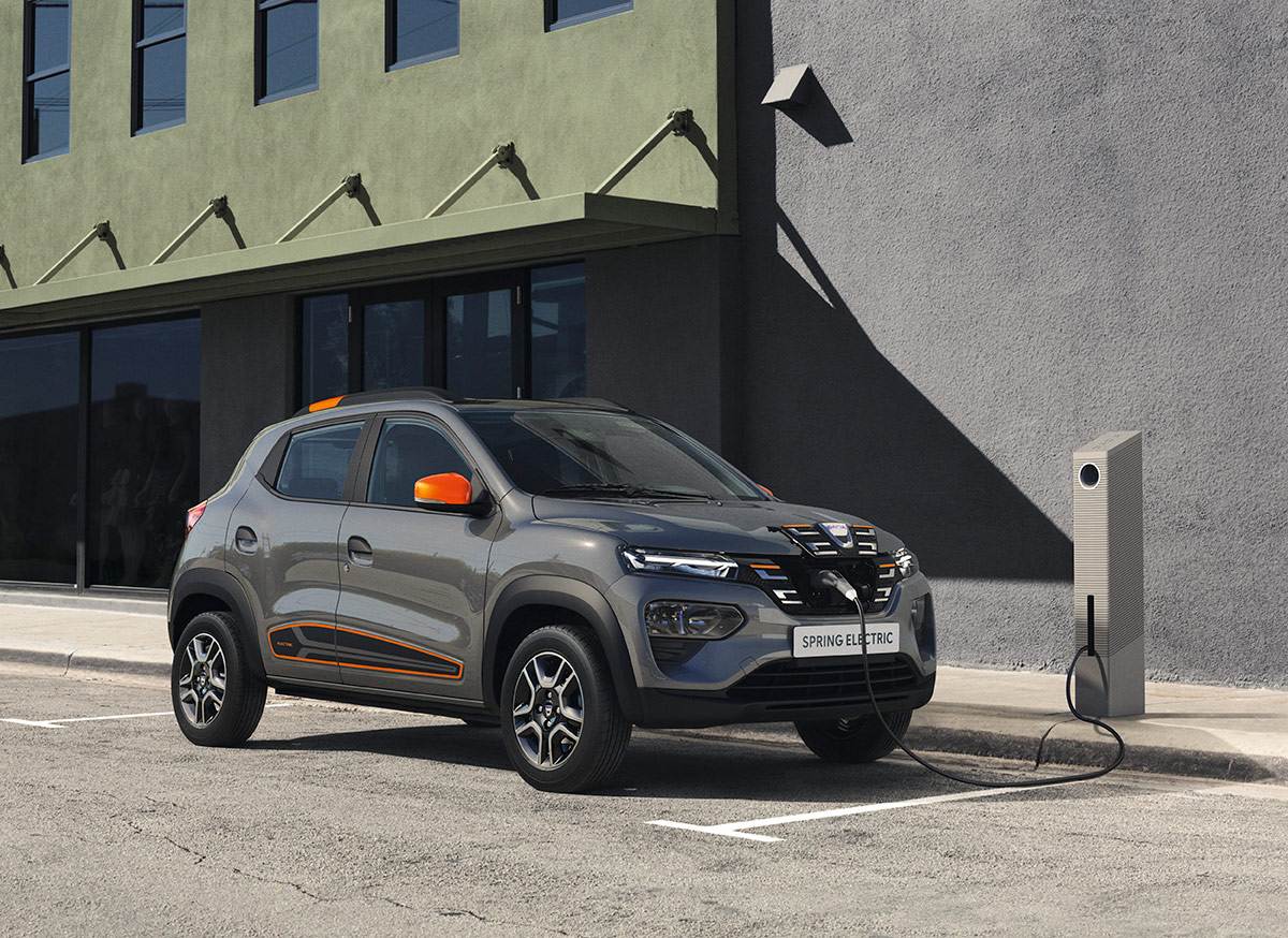 dacia spring electric statie incarcare